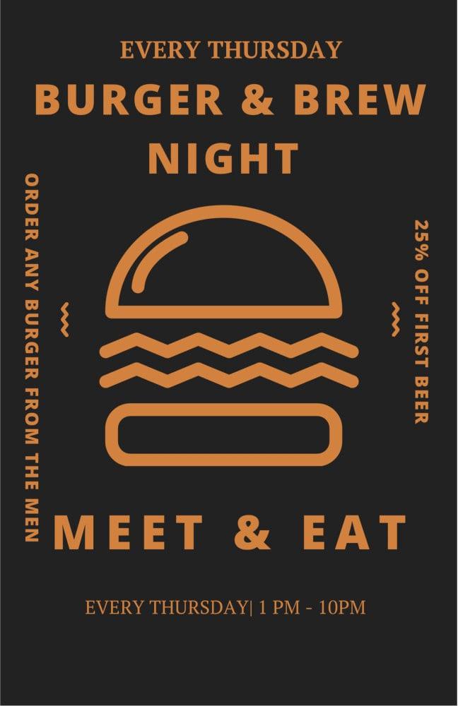 burger and brew night